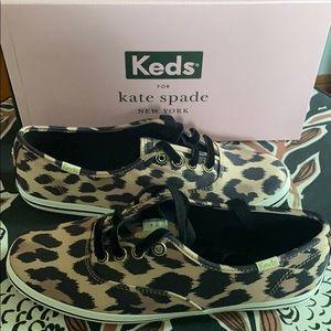 Kate Spade x Keds Leopard Shoes